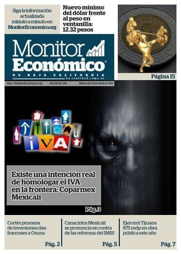 Existe una intención real de homologar el IVA en la frontera Coparmex Mexicali