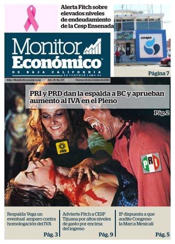 PRI y PRD dan la espalda a BC y aprueban aumento al IVA en el Pleno