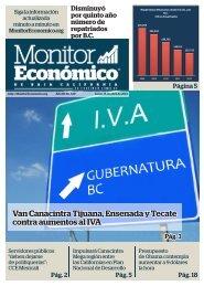 Van Canacintra Tijuana Ensenada y Tecate contra aumentos al IVA