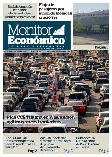 Pide CCE Tijuana en Washington agilizar cruces fronterizos
