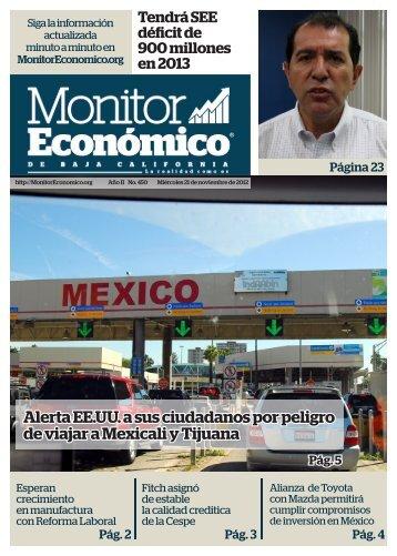 Alerta EE.UU a sus ciudadanos por peligro de viajar a Mexicali y Tijuana
