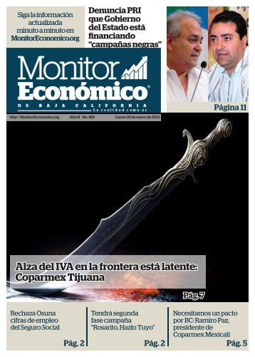 Alza del IVA en la frontera está latente Coparmex Tijuana