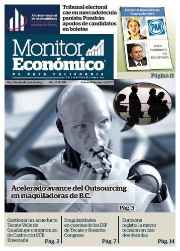 Acelerado avance del Outsourcing en maquiladoras de B.C