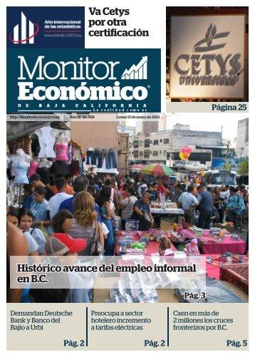 Va Cetys por otra certificación Histórico avance del empleo informal en B.C