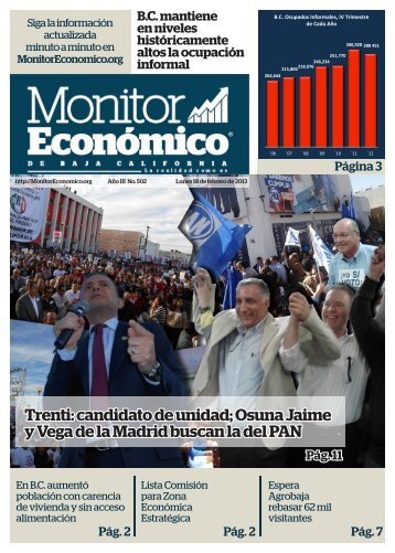 Trenti candidato de unidad Osuna Jaime y Vega de la Madrid buscan la del PAN