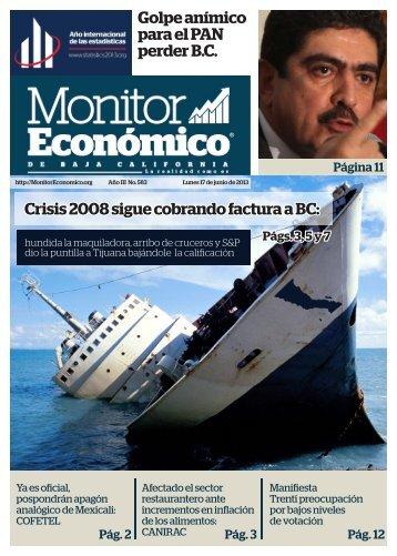 Golpe anímico para el PAN perder B.C Crisis 2008 sigue cobrando factura a BC