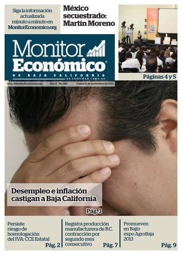 Desempleo e inflación castigan a Baja California