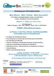 Einladung zur Informationsreihe Mehr Wissen – Mehr Teilhabe ...