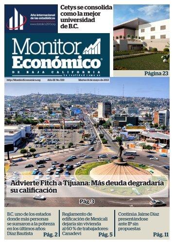 Advierte Fitch a Tijuana Más deuda degradaría su calificación