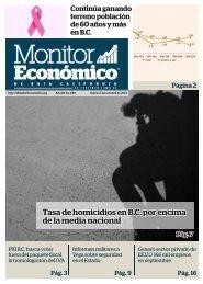Tasa de homicidios en B.C por encima de la media nacional