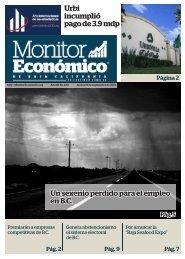 Urbi incumplió pago de 3.9 mdp Un sexenio perdido para el empleo en B.C