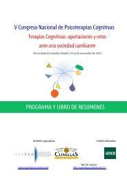 V Congreso Nacional de Psicoterapias Cognitivas PROGRAMA Y LIBRO DE RESÚMENES
