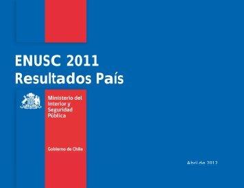 ENUSC 2011 Resultados País