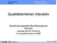 Qualitätskriterien interaktiv - Deutsch am Arbeitsplatz