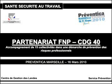 PARTENARIAT FNP – CDG 40