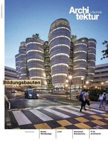 Architektur+Technik Nr. 9/15, Marktplatz Boden- und Wandbeläge