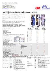 3M jednorázové ochranné oděvy