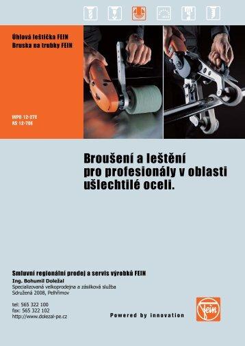 Broušení a leštění pro profesionály v oblasti ušlechtilé oceli