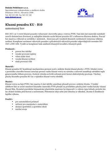 Kluzná pouzdra KU - B10