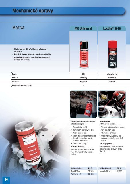 Řešení pro opravy a údržbu vozidel