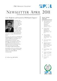 NEWSLETTER APRIL 2011 - Project Management Institute Munich ...
