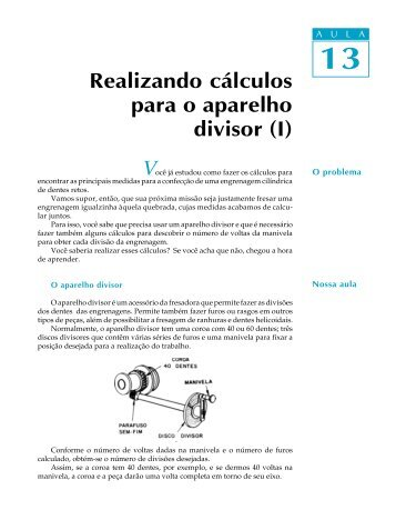 Realizando cálculos para o aparelho divisor
