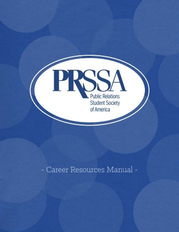 - Career Resources Manual -