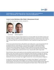 Lessor-Lessee Relations After Shale's Honeymoon Period