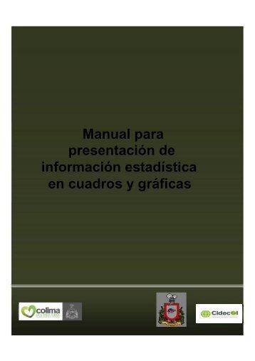 presentación de información estadística en cuadros y gráficas