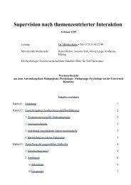 Supervision nach themenzentrierter Interaktion (TZI)