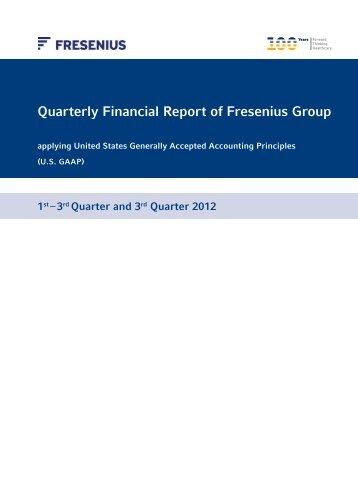 Quarterly Financial Report Q3 2012 - Fresenius