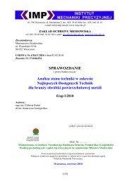 Analiza BAT STM-etap I 2010 - Pracownia Ochrony Środowiska ZS-4