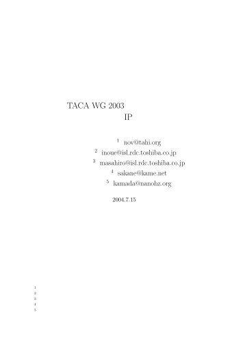 TACA WG 2003   IP
