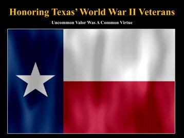 Honoring Texas' World War II Veterans