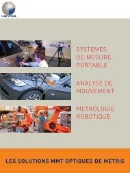 SYSTEMES DE MESURE PORTABLE ANALYSE DE MOUVEMENT METROLOGIE ROBOTIQUE