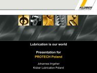 Lubrication is our world Presentation for PROTECH Poland