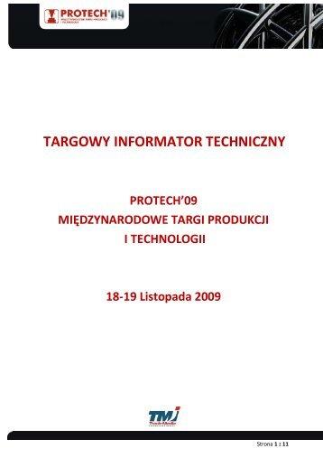 TARGOWY INFORMATOR TECHNICZNY