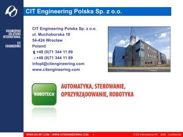 CIT Engineering Polska Sp z o.o