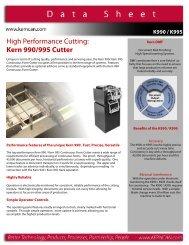 High Performance Cutting Kern 990/995 Cutter