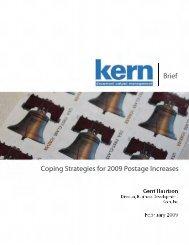 PostalSurvivalStrategies Brief CopingStrategiesfor2009PostageIncreases