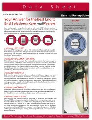 Your Answer for the Best End to End Solutions Kern mailFactory