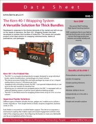 The Kern 40-1 Wrapping System A Versatile Solution for Thick Bundles