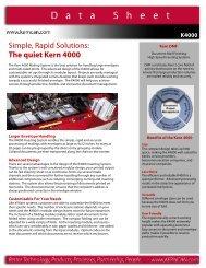 Simple Rapid Solutions The quiet Kern 4000
