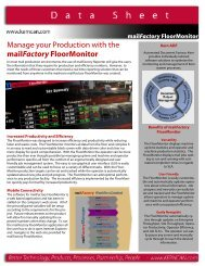 Manage your Production with the mailFactory FloorMonitor