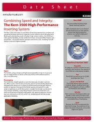 Combining Speed and Integrity The Kern 3500 High-Performance Inserting System