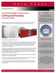 Innovative High-Performance Cutting and Grouping The Kern 999s