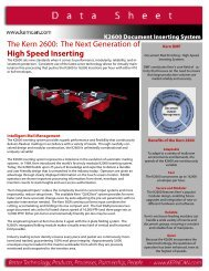 The Kern 2600 The Next Generation of High Speed Inserting