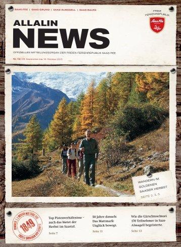 Allalin News Nr. 15 - SAAS-FEE | SAAS-GRUND | SAAS-ALMAGELL | SAAS-BALEN