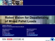 Robot Vision for Depalletizing of Mixed Pallet Loads