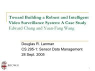 Toward Building a Robust and Intelligent Video Surveillance System ...